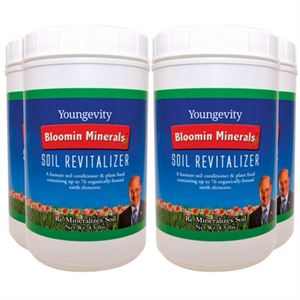 Youngevity - 90 For Life. 4 Pack - Bloomin Minerals Soil Revitalizer - 4.5 lbs